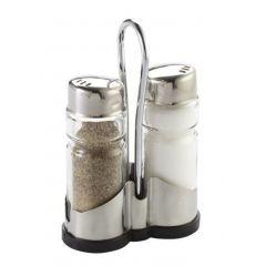 Ménagère sel/poivre transparente 13 cm Pro.mundi