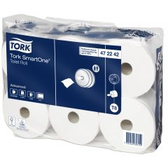 Papier hygiénique blanc ouate de cellulose Smartone Tork (12 pièces)