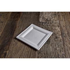 Assiette carrée blanc 20x20 cm (50 pièces)
