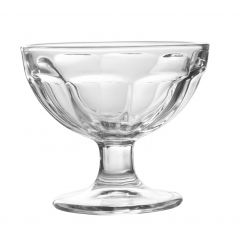 Coupe à dessert transparente verre ronde Skye
