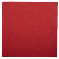 Serviette rouge ouate de cellulose 38x38 cm Lisah Pro.mundi (50 pièces)