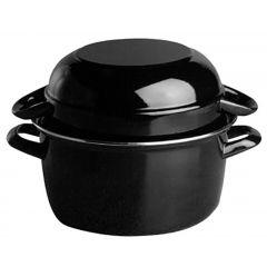 Marmite à moules noire fonte d'acier Ø 18 cm 2,60 l