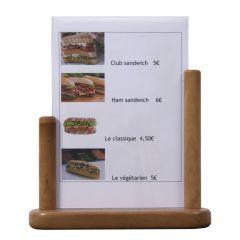 Chevalet de table rectangulaire marron 20 cm Classique Securit
