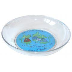 Assiette plate ronde bleue plastique Ø 18,50 cm Vaisselle Enfance Copolyester Plastorex
