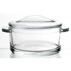 Cocotte avec couvercle transparente verre 25 cl Ø 126 mm Lea La Rochere