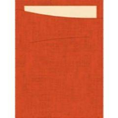 Pochette mandarine non tissé 11,50x23 cm Sacchetto Duni (60 pièces)