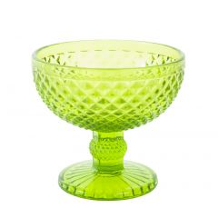 Coupe à dessert verte verre ronde Baya Essentials Glassware