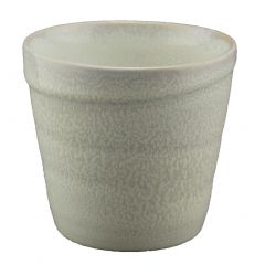 Pot rond blanc grès 40 cl Ø 10 cm Pearl Pro.mundi