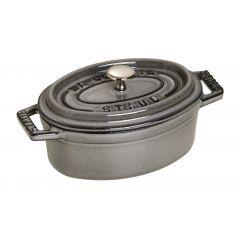 Mini cocotte gris graphite fonte d'acier 7x11 cm 0,25 l Staub