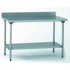 Table avec dosseret et étagère 70x120 cm Tournus