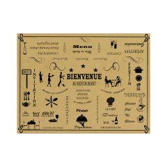 Set de table beige papier 40x30 cm (500 pièces)