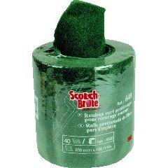 Rouleau abrasif prédécoupé vert 20x4 cm Scotch Brite 3m