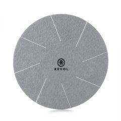 Séparateur d'assiettes rond gris textile Ø 18 cm Revol
