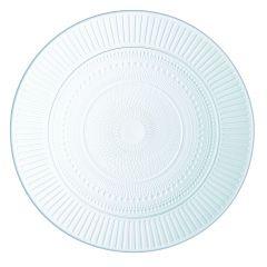 Assiette plate rond transparent Ø 25 cm Louison Luminarc