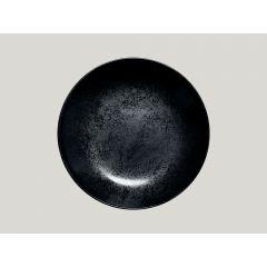 Assiette coupe creuse rond noir porcelaine Ø 23 cm Karbon Rak