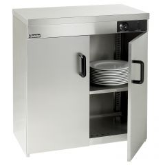 Armoire chauffante grise 2 niveaux 120 assiettes Bartscher