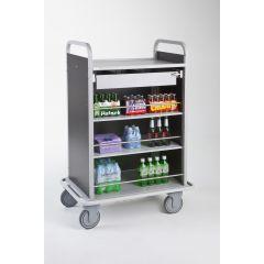 Chariot mini-bar marron 56,6x89 cm Ibiza Caddie Hotel
