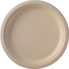 Assiette ronde marron Ø 26 cm Bagasse Duni (50 pièces)