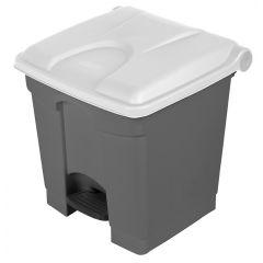 Collecteur à pédale gris plastique 30 l Probbax