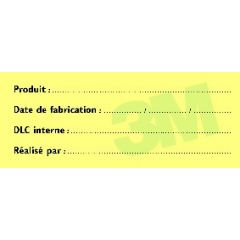 Bloc tracabilité papier 4x10 cm 3m (6 pièces)