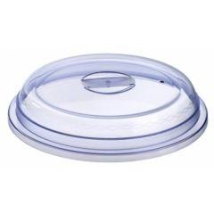 Couvre assiette bleu plastique rond Regithermie