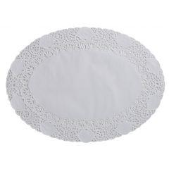 Dentelle ovale blanche 22x30 cm (250 pièces)