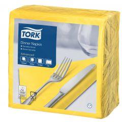 Serviette jaune ouate de cellulose 39x39 cm Tork (150 pièces)