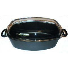 Faitout avec couvercle ovale noir 12 l