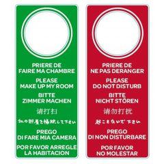 Plaquette de chambre rectangulaire verte Bequet (10 pièces)