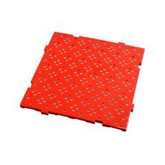 Caillebotis carré rouge 50x50 cm Gilac