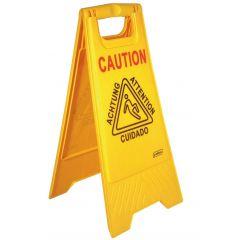 Panneau d?avertissement rectangulaire jaune 28 cm Probbax