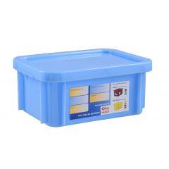 Bac gerbable rectangulaire bleu plastique 15 l Gilac