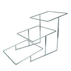 Présentoir à 3 niveaux rectangulaire gris acier 43 cm Dover Dalebrook