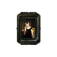 Plateau victoire rectangulaire 44 cm Portrait Ibride