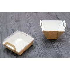 Panier repas carré marron 116x116 mm (200 pièces)