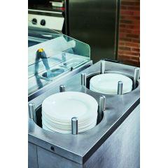 Assiette plate ronde blanc verre Ø 22,50 cm Nova_aquitania Arcoroc