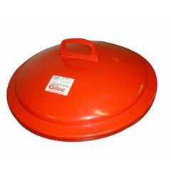 Couvercle pour poubelle 75 l rouge plastique Gilac