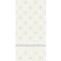 Serviettes non tissé 40x40 cm Glitter Blanc Duni (60 pièces)