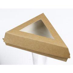 Boîte triangulaire beige 15,50x15,50 cm Solia (50 pièces)