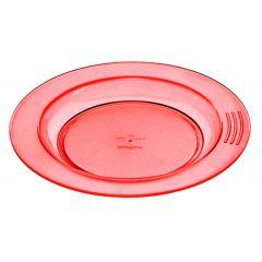 Assiette creuse ronde orange plastique Ø 18 cm Vaisselle Copolyester Saint Romain
