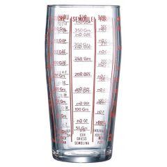 Verre mesureur rond transparent verre 58 cl Ø 8,10 cm Luminarc