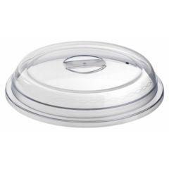 Couvre assiette transparent plastique rond Regithermie