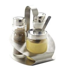 Ménagère sel/poivre/moutarde 11,50 cm Nova Pro.mundi