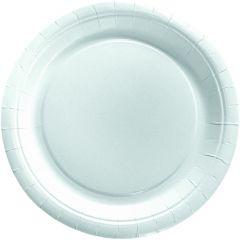 Assiette ronde blanc Ø 23 cm (20 pièces)