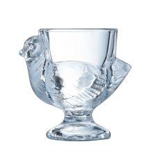 Coquetier irrégulier transparent verre Ø 6,80 cm Luminarc