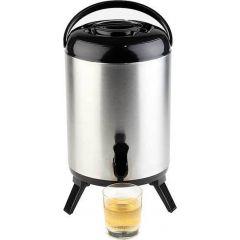 Distributeur isotherme de boissons rond gris plastique 9,50 l Ø 24 cm Aps