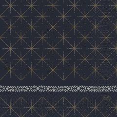 Serviettes ouate de cellulose 33x33 cm Glitter Noir Duni (250 pièces)