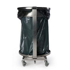 Porte sac gris inox 110 l Probbax