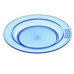 Assiette creuse ronde bleue plastique Ø 18 cm Vaisselle Copolyester Saint Romain