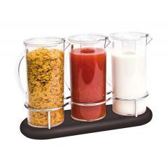 Présentoir à céréales 3 x 2,8 l bois 8,40 l Legno Zepe